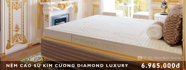 Nệm cao su Kim Cương Luxury - Nệm Bình Dương