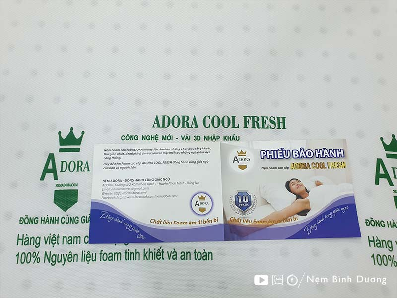 Nệm Foam Adora Cool Fresh - Nệm Bình Dương
